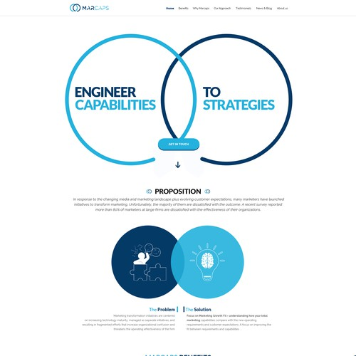 Web Page for Management Consulting Startup
