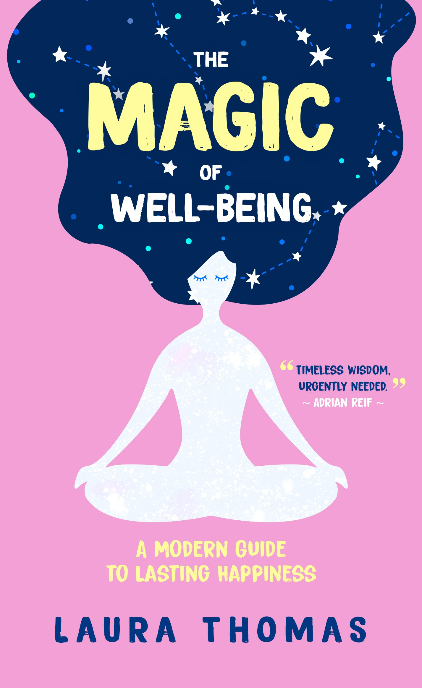 Magical Book cover for women about well-being & happiness
