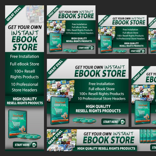 Create Killer Looking Banner Ads For My Instant Ebook Store Affiliate Program