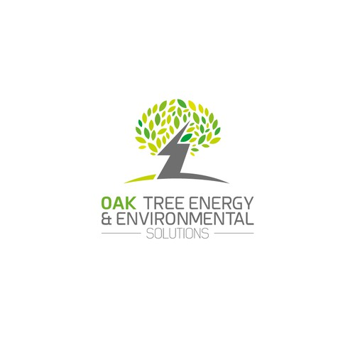 Zenzla logo concept for OAK TREE ENERGY & ENVIRONMENTAL SOLUTIONS logo.