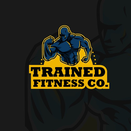 Logo concept for Trained Fitness co.