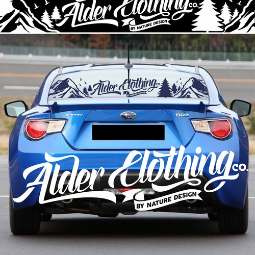 Great Typography Stickers for Great Car