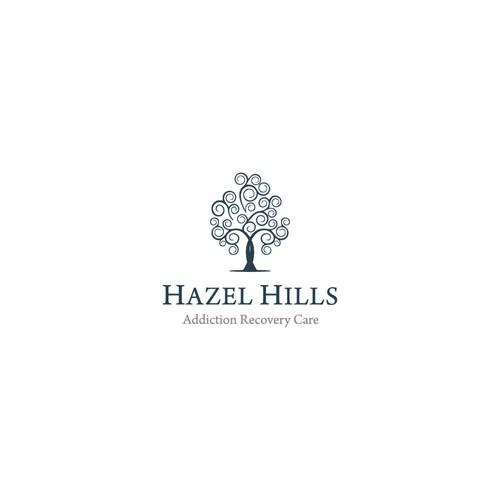 Minimal logo concept for Hazel Hills
