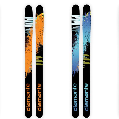 Design Top Sheet for Snow Skis