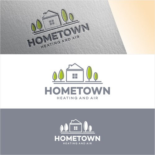 Logo For Hometown Heating And Air