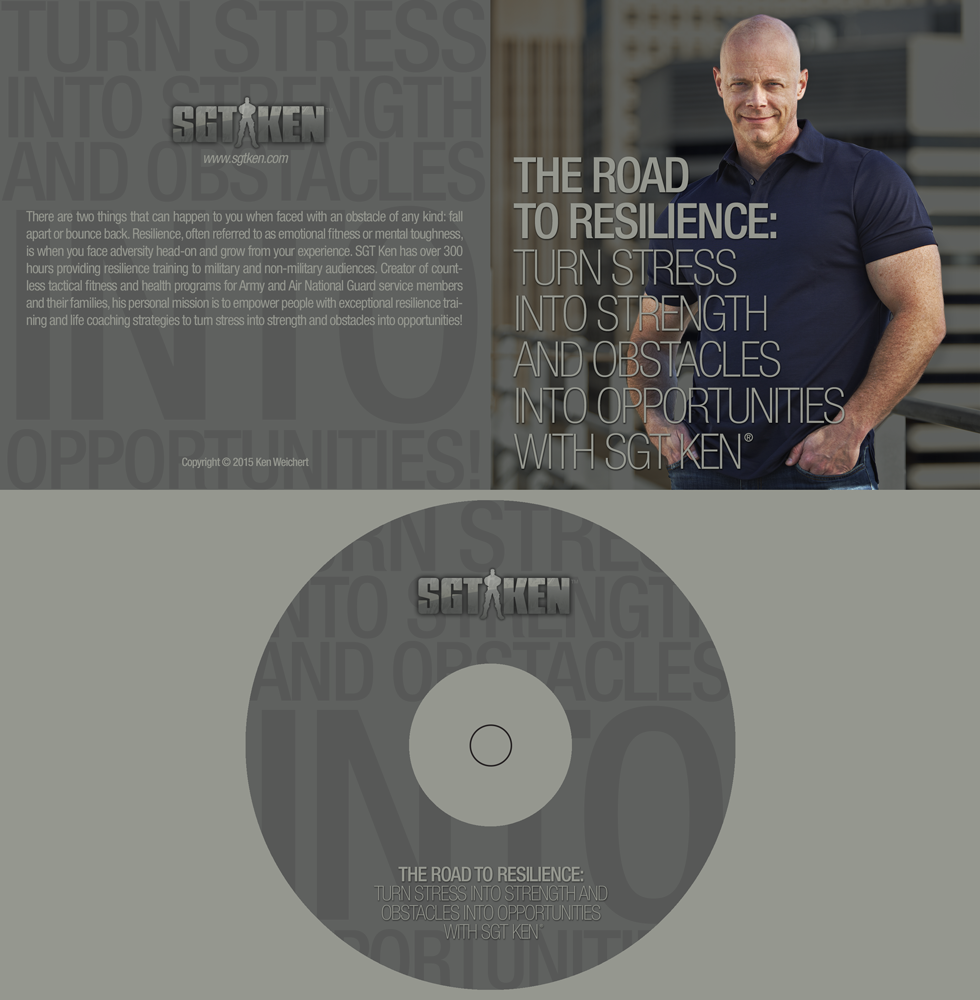 Create a CD sleeve and disc face for SGT Ken's audio CD - The Road to Resilience