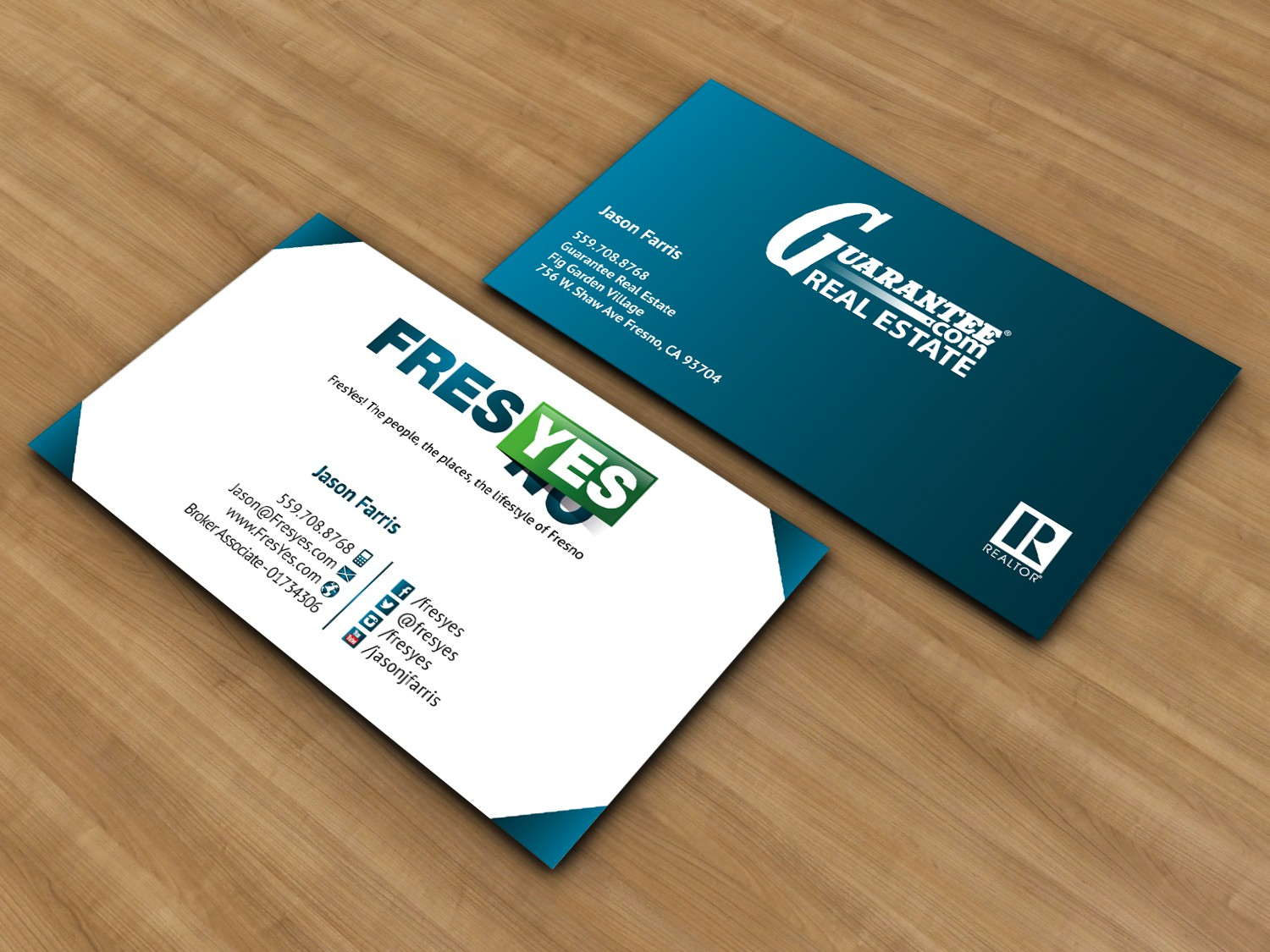 Help Guarantee Real Estate and Fresyes with a new stationery
