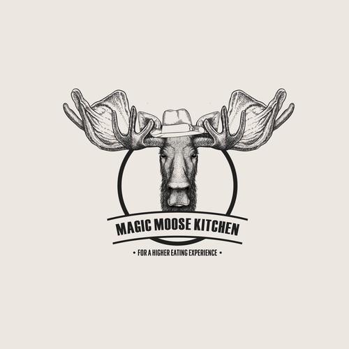 Moose sketch.
