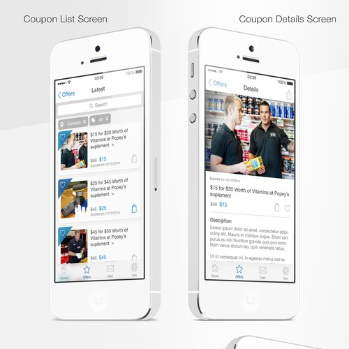 iPhone Coupon App from Plain to Stunning