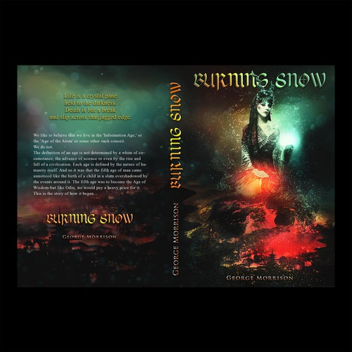 Burning Snow Book Cover Concept
