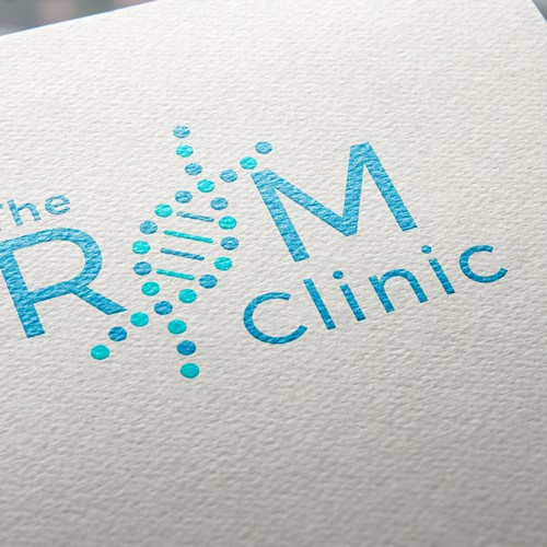 The ROM Clinic logotype. Business card.