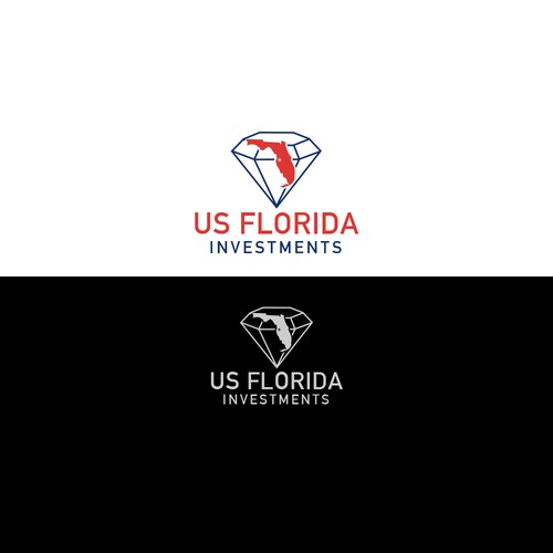 the state of florida, diamond close to the city of tampa, business name across logo/ design