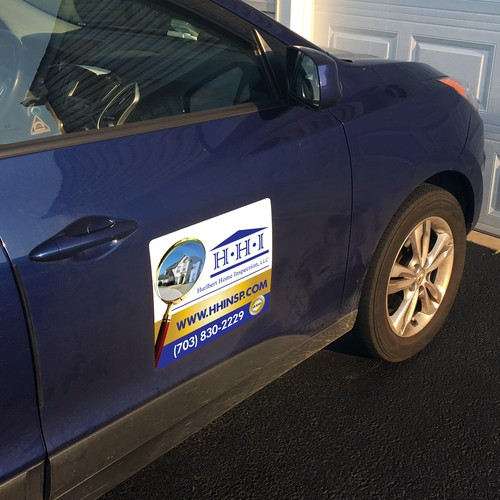 eye-catching vehicle magnet design for home inspection company