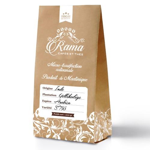 Mockup for coffee bag