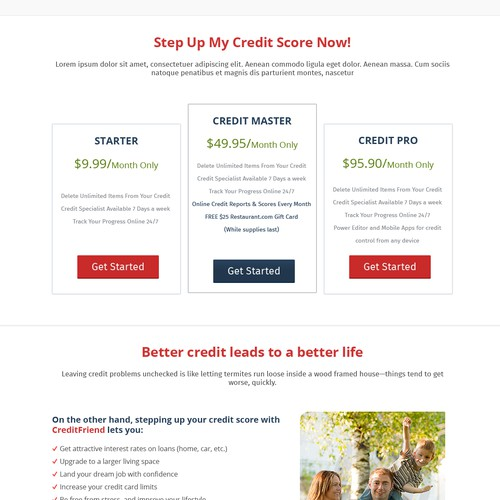 CreditFriend.com home page