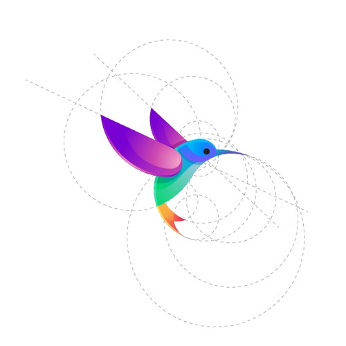 Colorful logo concept for Hummingbird