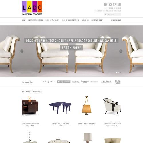 Create the next website design for L.A. Design Concepts