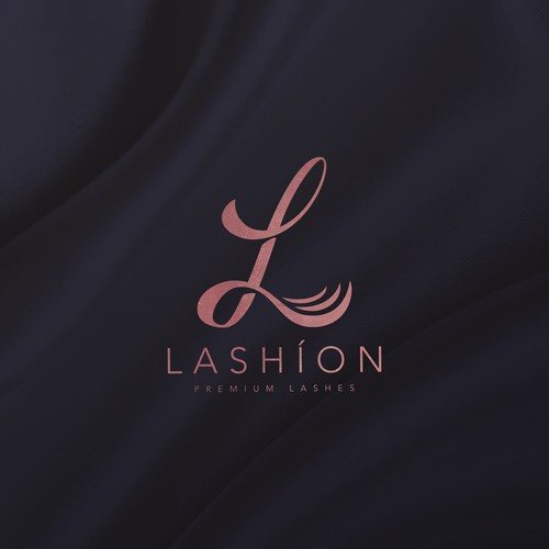 Feminine and elegant cosmetic logo