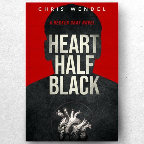 HEART HALF BLACK