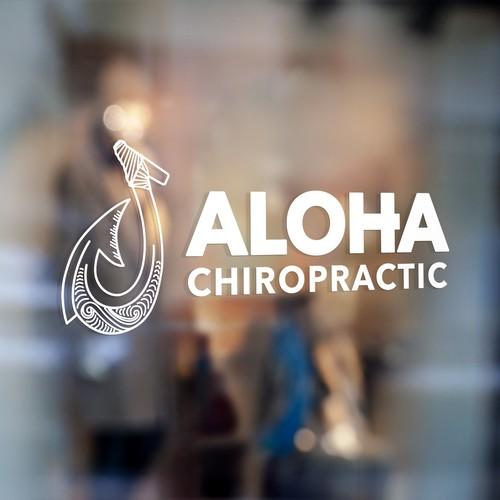 """Logo for """"Aloha Chiropractic"""""""