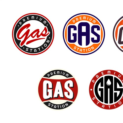 Vintage Gas Pump Logo