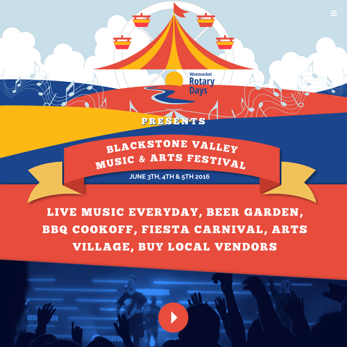 Web Design for Blackstone Valley Music & Arts Festival