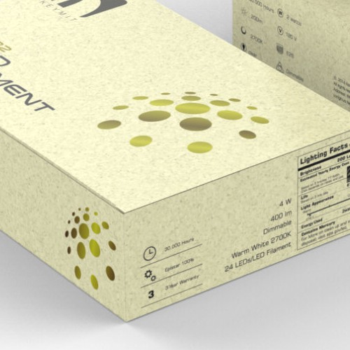 Kraft Paper packaging design for LED Bulb
