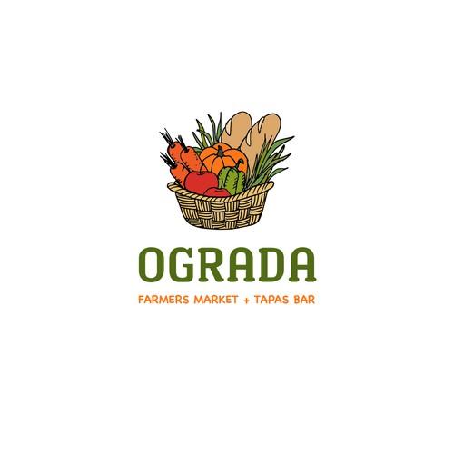 Logo concept for farmers market and tapas bar