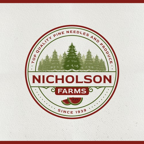 Nicholson Farms Logo and Business Card
