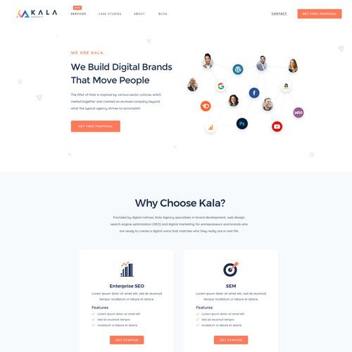 Website Design for Digital Marketing Agency