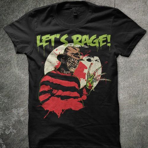 Freddy Krueger design for Let's Rage! Clothing