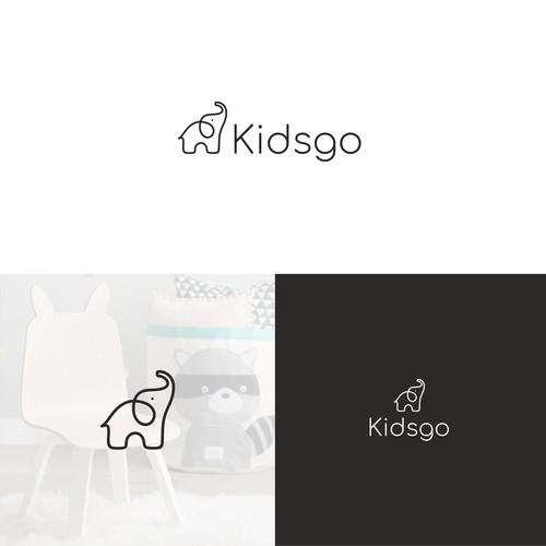 儿童家具店的徽标设计