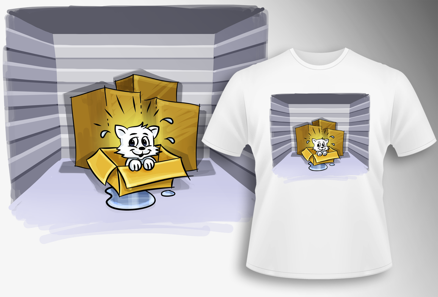 T-shirt design: What NOT to put in storage. Be funny, be interesting.