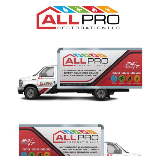 All PRO restoration Truck Wrap