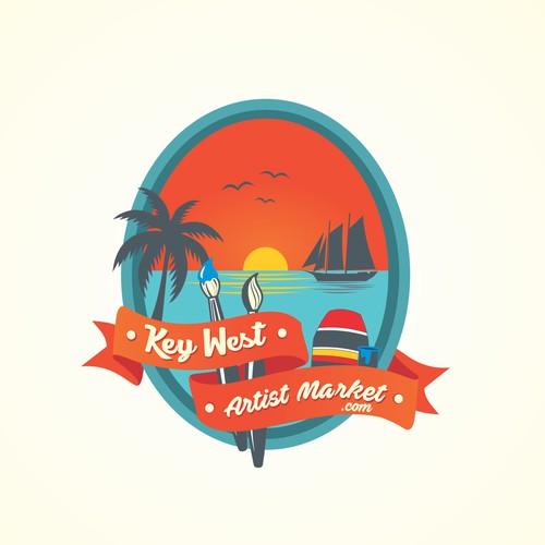 emblem logo for artist market website