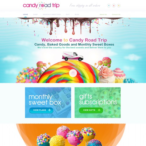 Candy Road Trip website