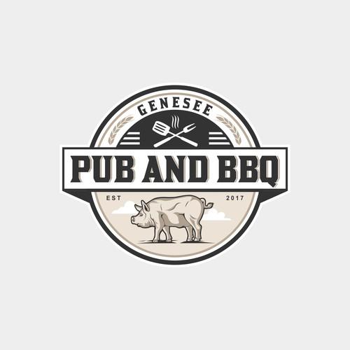 Logo for 'Genesee, Pub & BBQ'