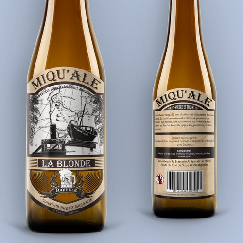 Miqu'ale (Artisanal Beer) Label Design