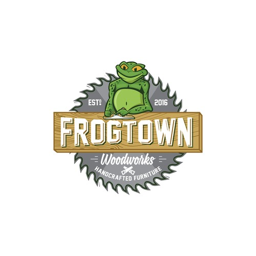 Logo for Frogtown Woodworks