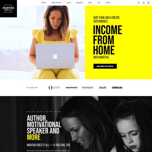 Martha Personal Branding Website Design