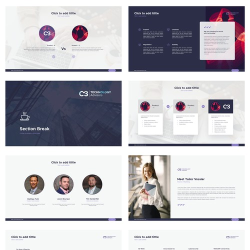 Design a Modern Techy PowerPoint Template