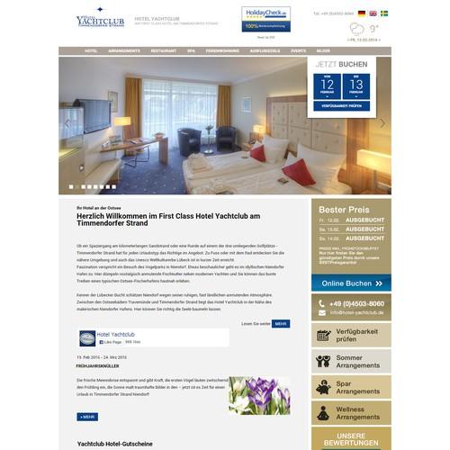 Design Selling bar for Hotel Yachtclub Baltic Sea