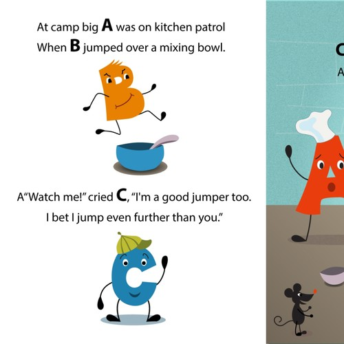 Fun colorful illustrations for picture book