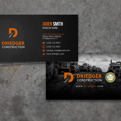 Your help is required for a new business card