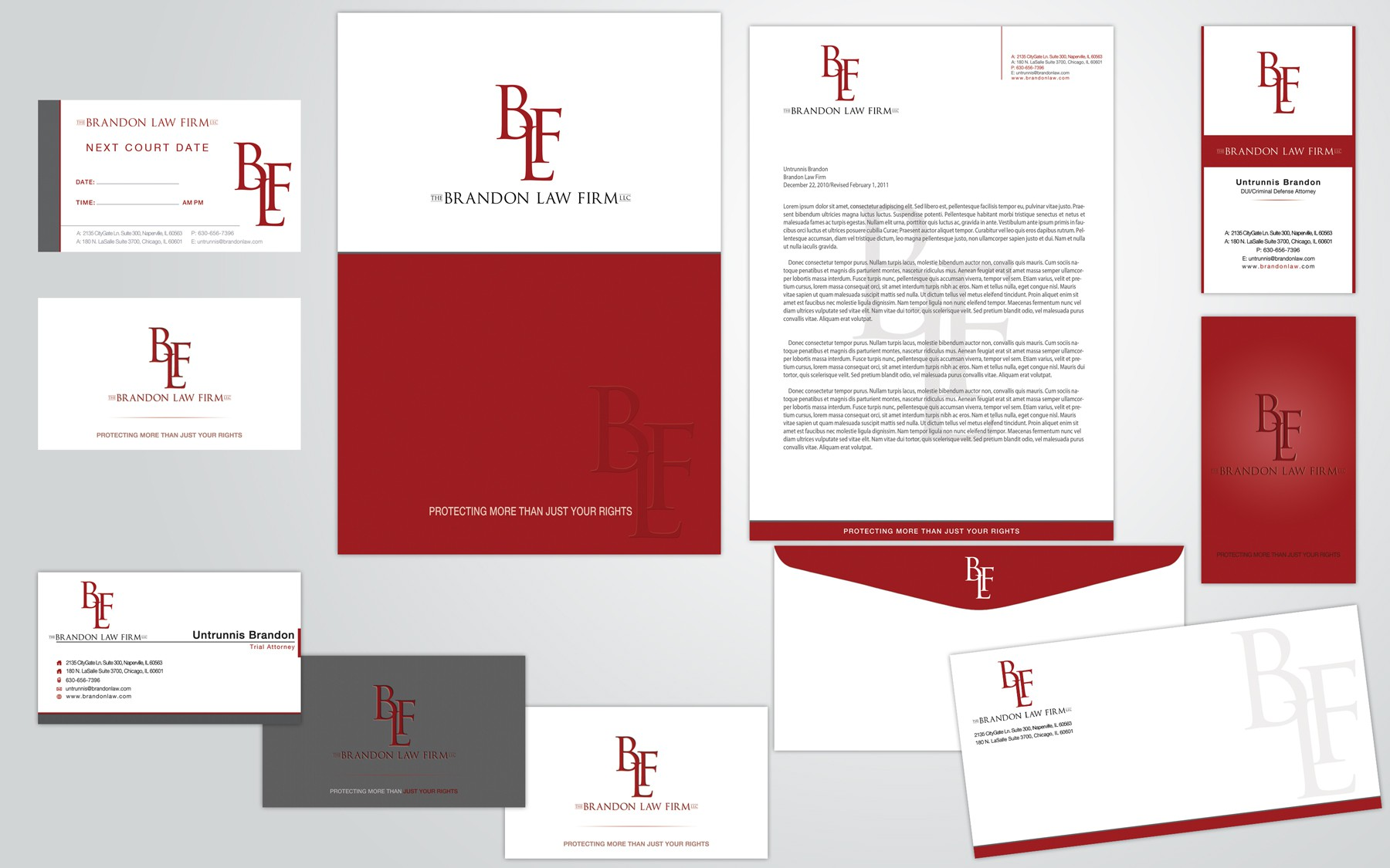 Create the next stationery for The Brandon Law Firm LLC