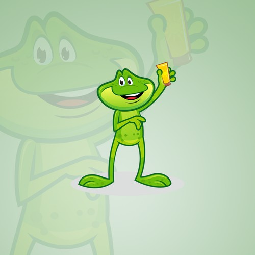 Frog Mascot for for kids Sunscreen campaign