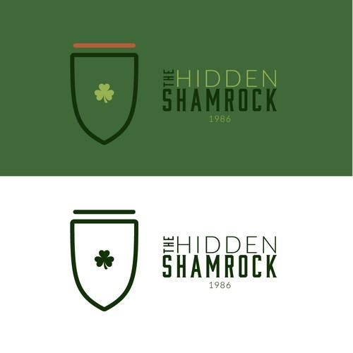 Hidden Shamrock Logo Concept
