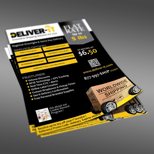 Deliver-It needs a new postcard, flyer or print