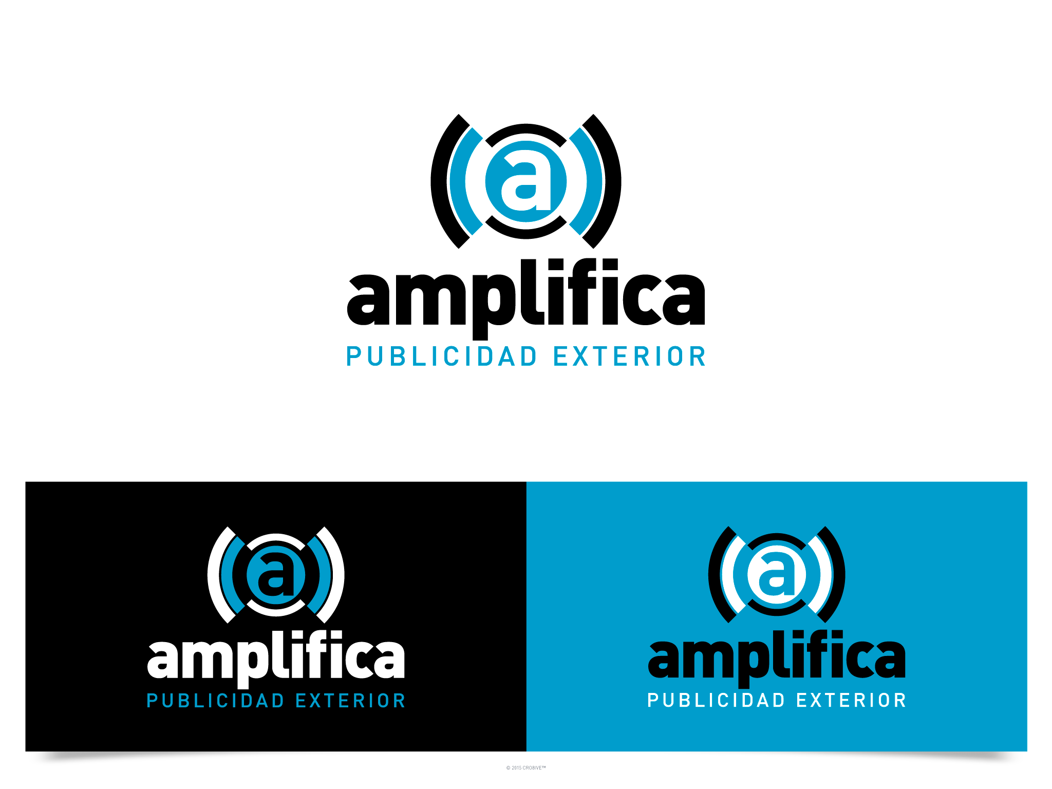 """amplify!""  (outdoor advertising new logo)"