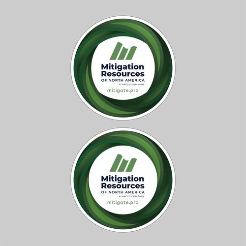 Mitigation Resources of North America Sticker design